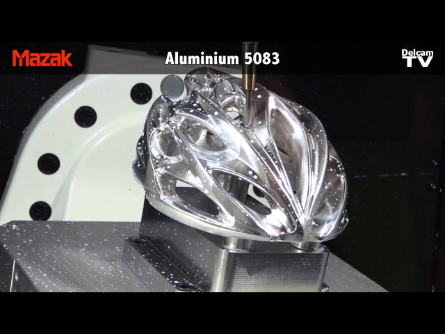 Rudy Project Windmax Cyle Helmet Machined in 5-axis with PowerMILL on Mazak Variaxis j600-5AX