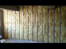 гипсокартон обшивка стен 2 слоя монтаж каменная вата Plasterboard Wall and mineral wool