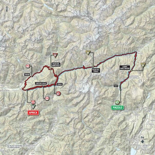 Джиро д'Италия-2015, превью этапов: 16 этап, Пинцоло - Априка, 177 км