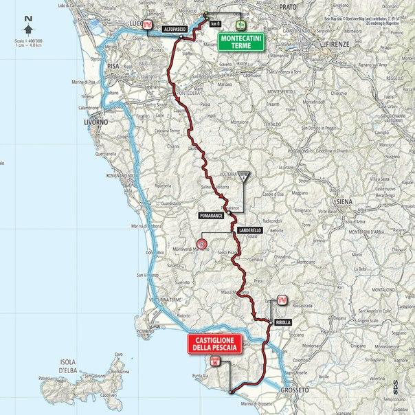 Джиро д'Италия-2015, превью этапов: 6 этап, Монтекатини Терме – Кастильоне-делла-Пеская, 183 км