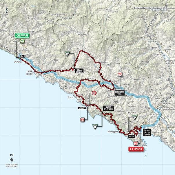 Джиро д'Италия-2015, превью этапов: 4 этап, Кьявари - Ла Специя, 150 км