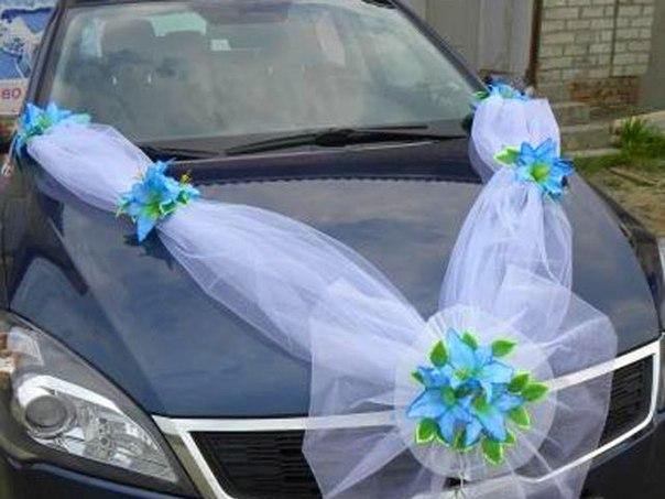 Свадебное оформление машины своими руками фото