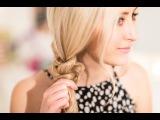 Quick Easy Braided Bun Hair Tutorial