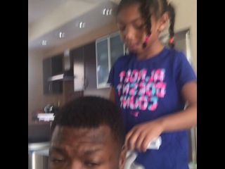 Nate Robinson on Instagram: �Getting my hair did by my daughter during football ...