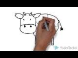How to Draw a cow (for Kids) / Как нарисовать корову (Для детей)