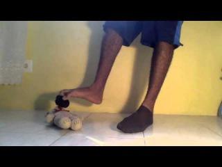Male Thin Socks Strip To Bare feet