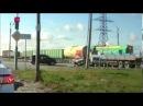 Жесткое дтп авария Поезд сбил Камаз на переезде сентябрь 2013 на видеорегистратор