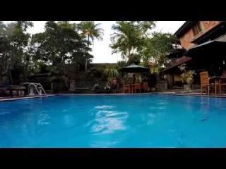 Jump in the pool. Bali. Ubud.