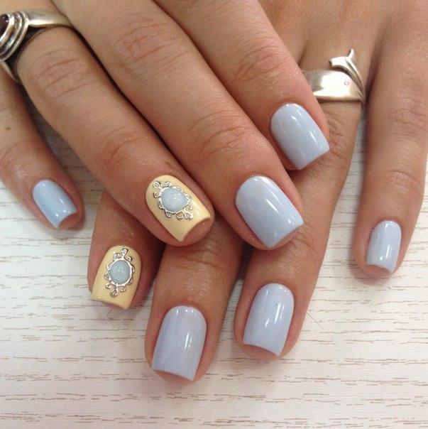 Дизайн ногтей гель лаком в пастельных тонах
