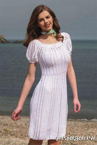 Платье с пышными рукавами (3 фото) - картинка