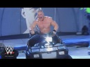 WWE Network: Brock Lesnar rides Steve Austin's ATV like he stole it: SmackDown, March 4, 2004