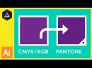 CMYK / RGB to Pantone | Converting colours in Adobe Illustrator