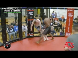 Fighter Gets Knocked Out and Sticks to the Cage in