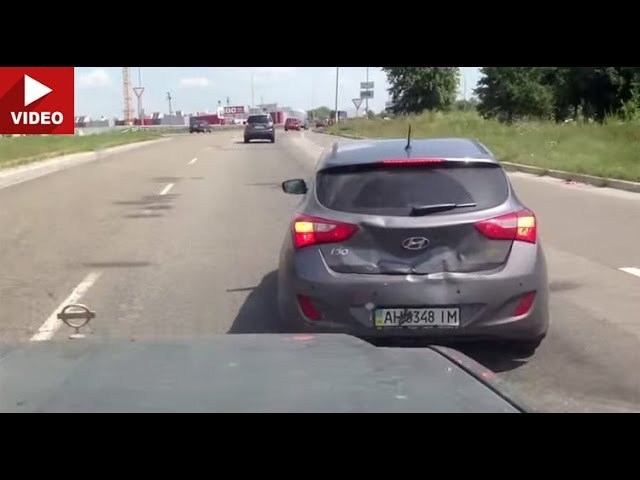 Сам себя наказал: Hyundai i30 vs. Nissan Patrol (Киев, Kiev)