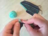 Вязание спицами следки для начинающих.Шаг 1