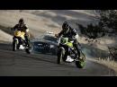 Motorcycle vs. Car Drift Battle 2. Тачку в конце разобьют)
