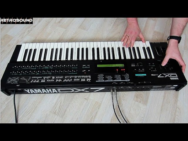 YAMAHA DX7 II FM Synthesizer (1987) with Grey Matter E! expansion board
