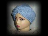 Чалма спицами /Turban knitting.Как научиться вязать.
