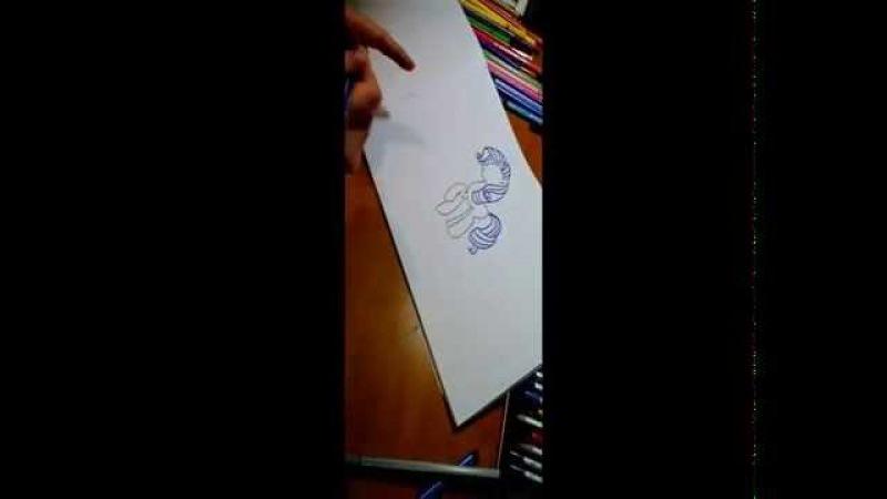 Как нарисовать пони Рарити!!))