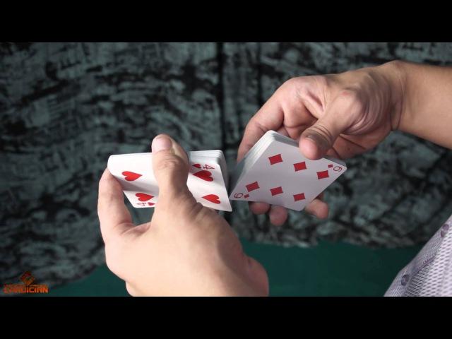 Трюки с картами - тасовка фаро (обучение faro shuffle) » Freewka.com - Смотреть онлайн в хорощем качестве