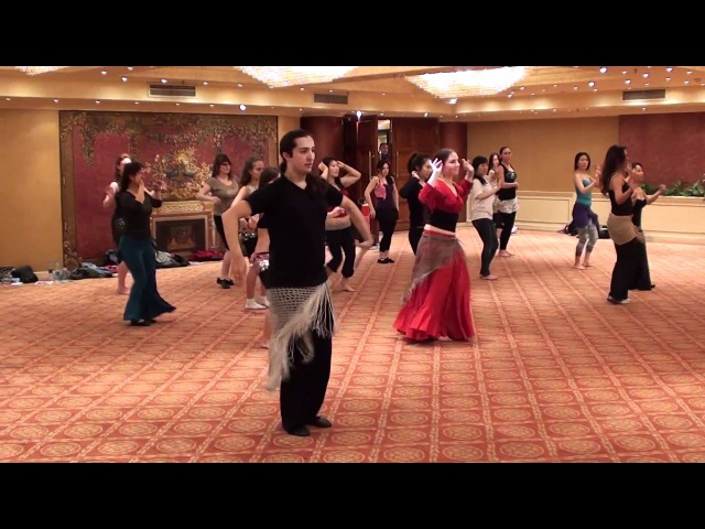 Salima´s flamenco-oriental class at Nile Group Festival in Egypt
