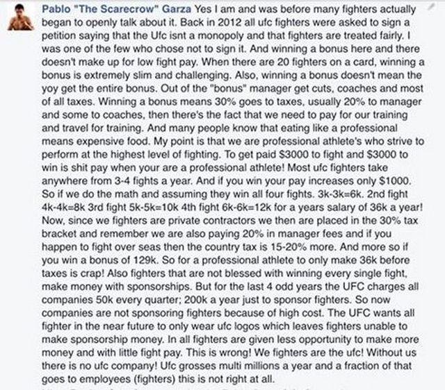 UFC попросили всех бойцов подписать петицию о том, что наши права не ущемляют
