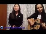 Казашка красиво поет под гитару - YouTube 2015