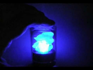 Copper sulphate crystal with LED backlight