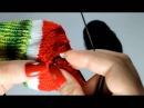 Вяжем арбузные носочки Часть 6 убираем концы нитей и декорируем носочки