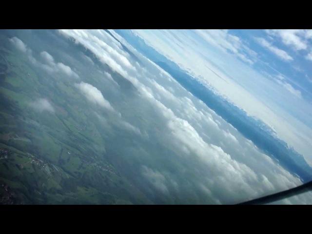 Очень красивый заход на посадку в Женеве, видео из пилотской кабины. Самолёт Embraer-190 UR-EMC