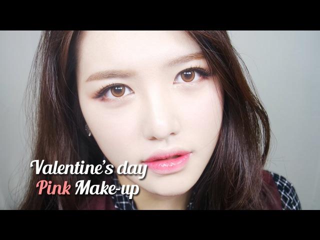 [ENG]올 로드샵! 발렌타인 핑크 메이크업 - Valentines Day Pink make up | 다또아