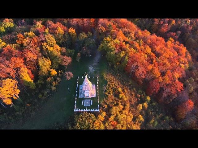 Spomenik na planini Gučevo ( Snimak iz Vazduha )