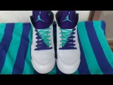 Jordan 5 Grapes Lacing Tutorial -  double laces, V-pattern and Criss-cross