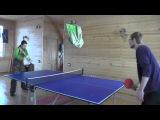 В чайном доме поставили стол для настольного тенниса