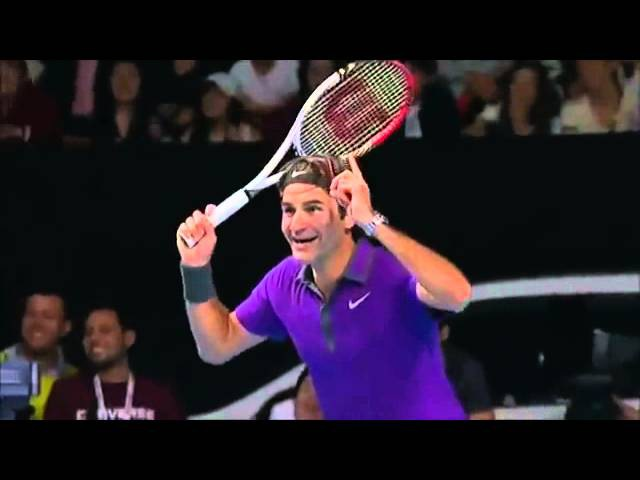 Роджер Федерер! Что ты делаешь - ахаха - прекрати