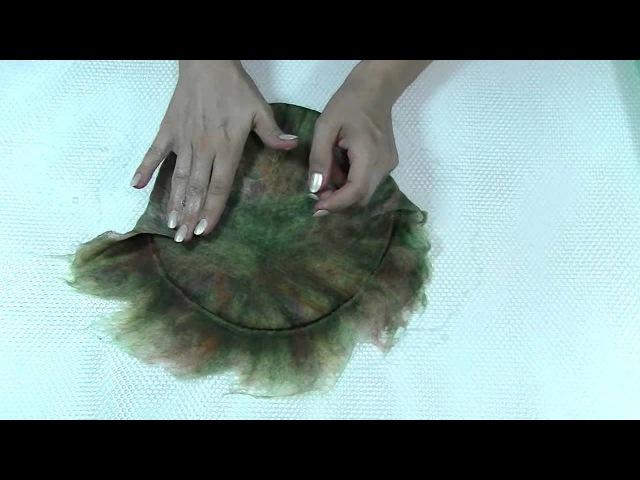 Шешина Екатерина. 🐑 Как свалять вазу из шерсти на шаблоне. 🐑Мокрое валяние на ш...