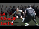 Los Angeles RB vs LB 1 on 1's | 2015 Orlando Nike Football The Opening Regional