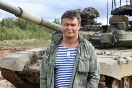 Олег Тактаров и танк