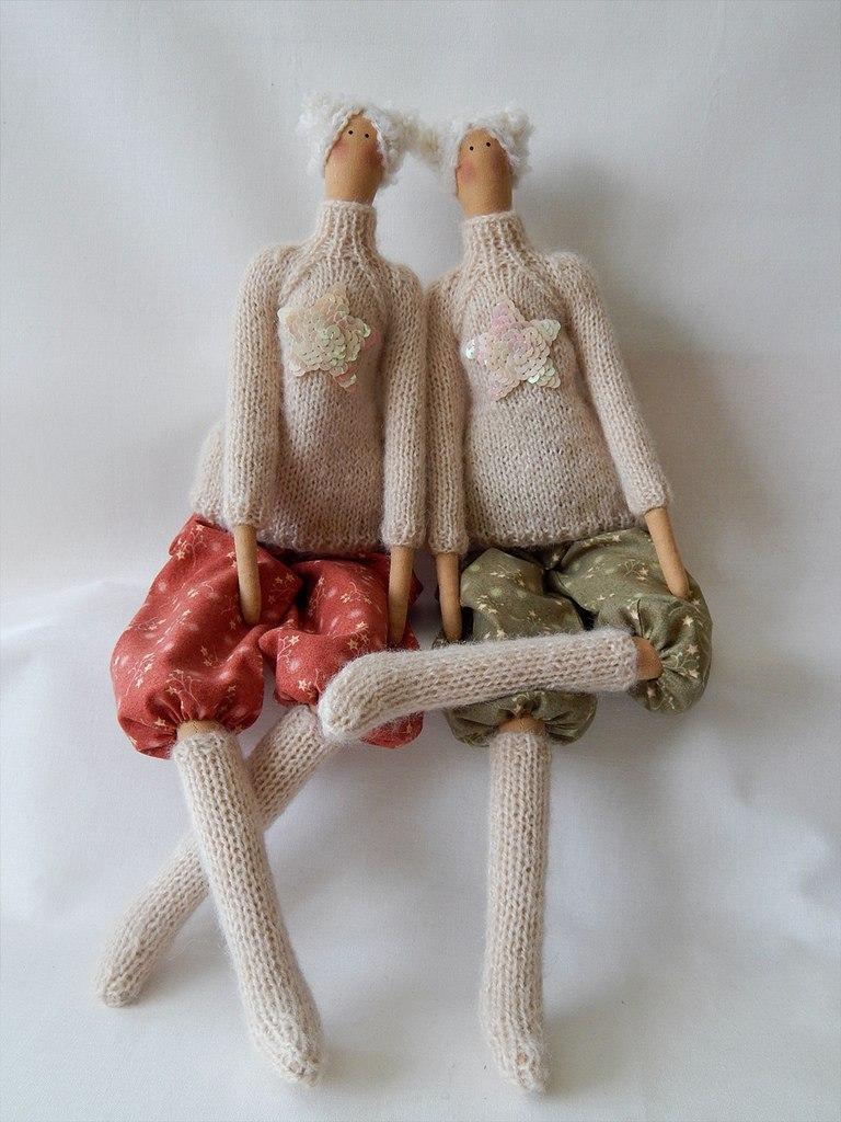 тильды в свитерках