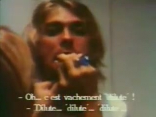 Nirvana members drunk with Sonic Youth