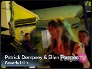 Friendly Dempeo kiss! Ellen Pompeo and Patrick Dempsey dine together at Dan Tanas (July 13th 2011)