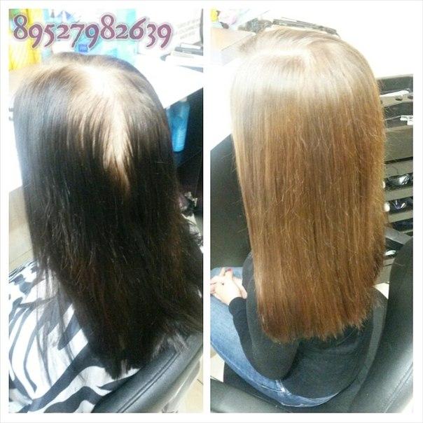 Смывка волос чёрного цвета