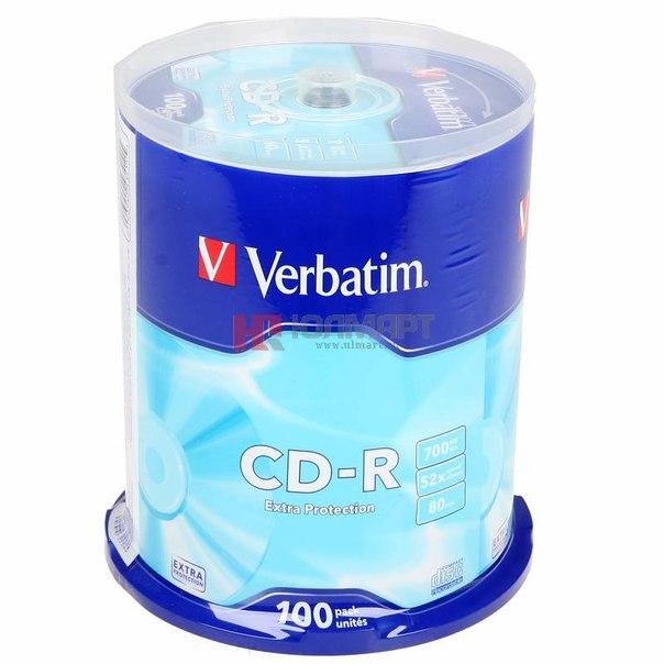 Диски cd-r 700mb 52x verbatim