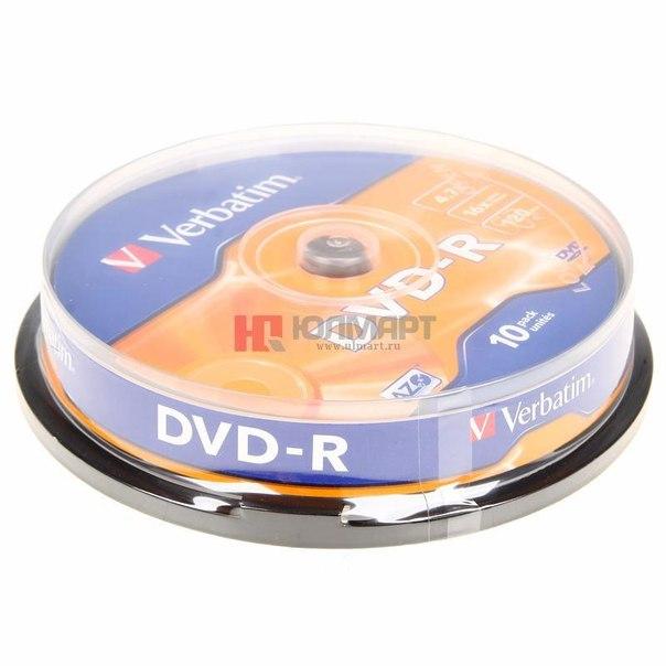 Диски dvd-r 4.7gb 16x verbatim