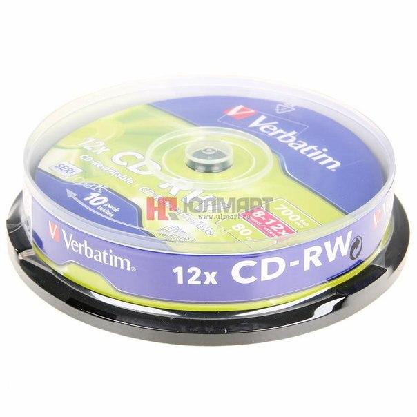 Диски cd-rw 700mb 12x verbatim