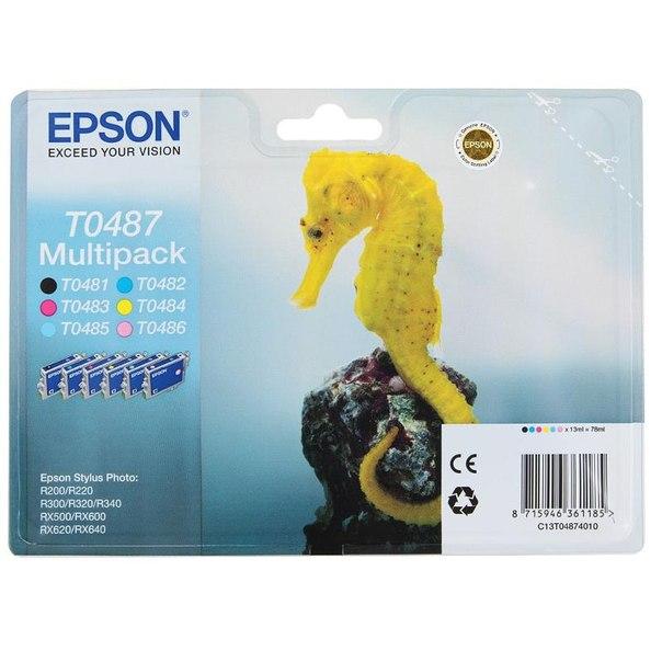 Набор epson t048740 из 6 картиджей