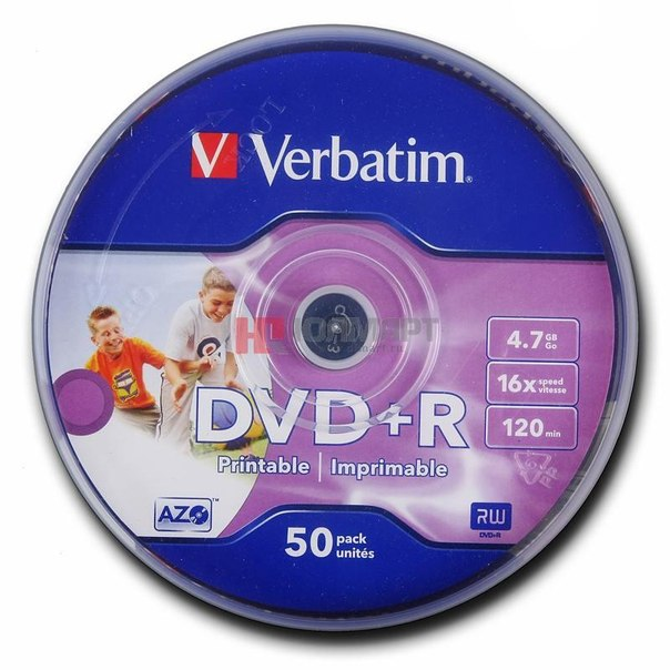 Диски dvd+r 4.7gb 16x photo printable verbatim