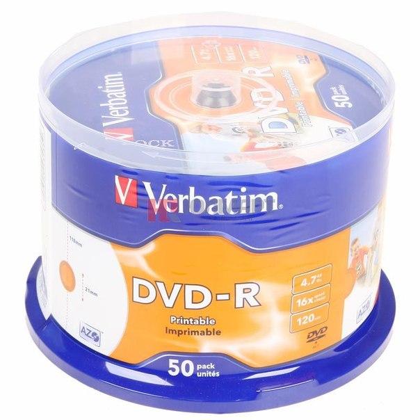 Диски dvd-r 4.7gb 16x photo printable verbatim