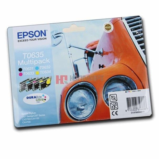 Набор epson t06354a из 4 картиджей