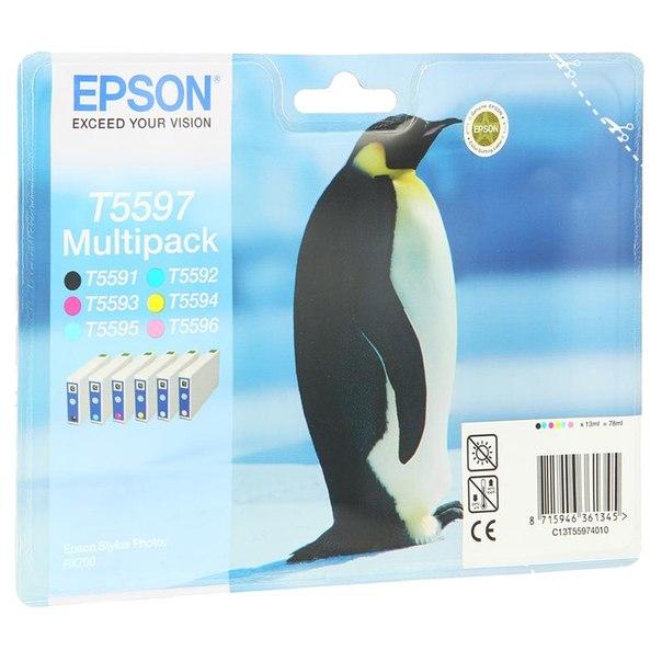 Набор epson t559740 из 6 картиджей